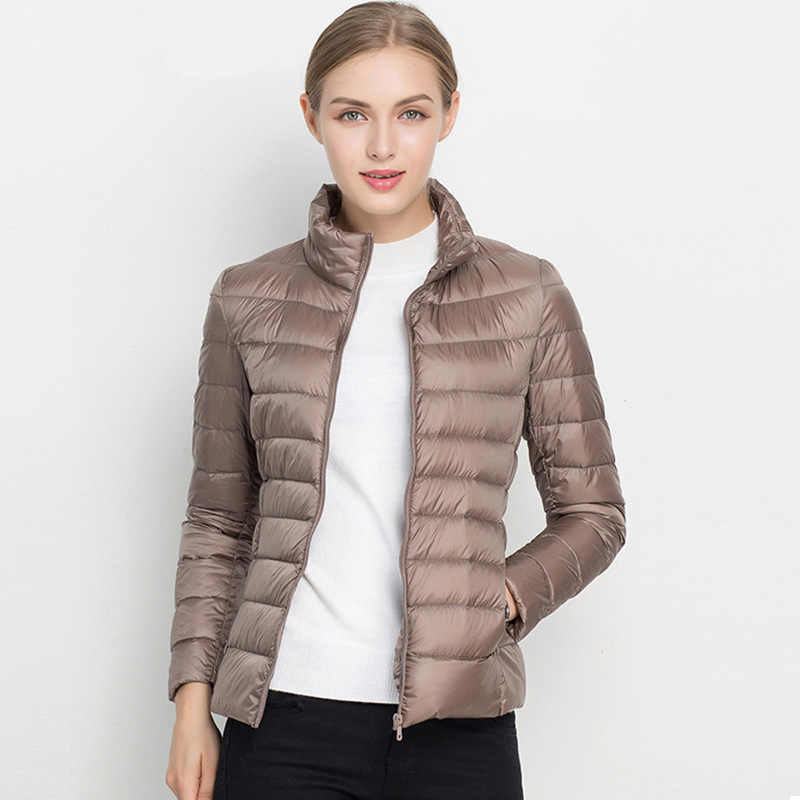 Ultra Light 90% White Duck Down Jacket Women Winter Coat 2019 Female Autumn Slim Warm Jacket Windproof Ladies Slim Bomber Coat