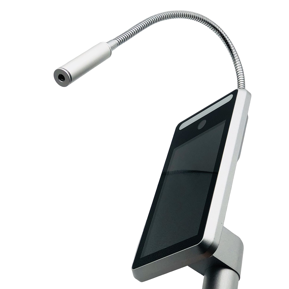 7 дюймов AI термальная камера 1080P распознавание лица Обнаружение температуры тела высокая температура сигнализация двери контроль доступа посещаемость времени