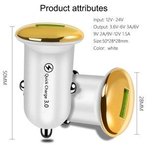Image 2 - מיני מטען לרכב עבור iPhone 11 X מהיר תשלום 3.0 USB טלפון מטען עבור סמסונג S10 S20 בתוספת מהיר טעינה טלפון נייד מטענים