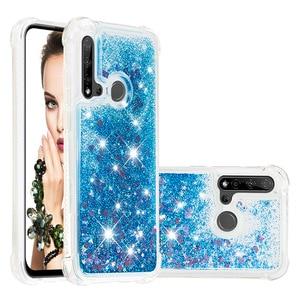 Image 5 - Liquid Quicksand Phone Cases for Huawei P20 Lite Mate 30 Lite Nova 5i Nova 5i Pro Case Glitter Love Heart Stars TPU Bumper Coque