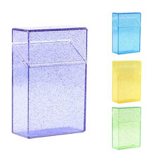 1 шт пластиковый прозрачный чехол для сигарет (емкость 20) коробка