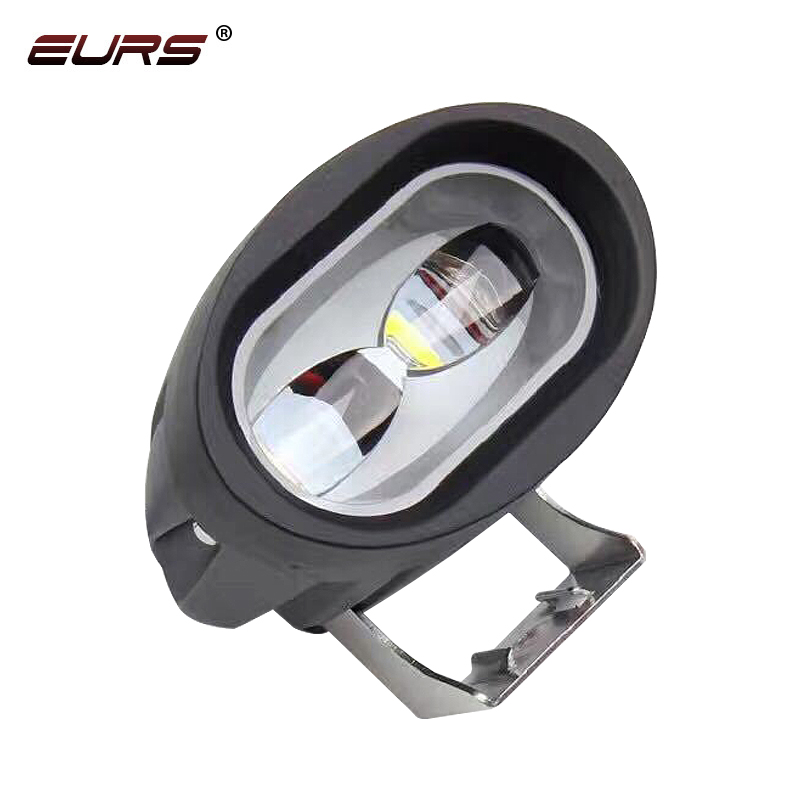 EURS Super Bright Motorcycle headlight Work lamp led spotlight 3000lm 6D motorbike accessories 3000K 6000K Motor headlamp 12V