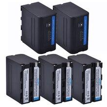 7.2V 7200mAh NP-F960 NP-F970 NP F960 F970 Battery with LED Indicator for Sony F950 F330 F550 F570 F750 F770 MC1500C 190P 1000C