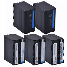 Batterie avec 7.2 pour Sony F950, F330, F550, F570, F750, F770, MC1500C, 7200 P, NP-F960 V, NP-F970 mAh, indicateur LED, 190