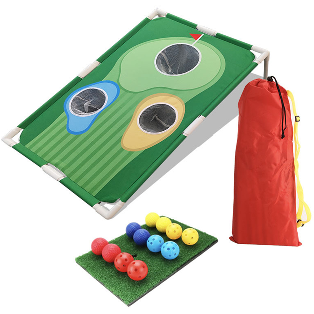 Mini Golf Practice Set Backyard Golf Cornhole Game Fun New Golf Game For All Ages Abilities Sport Game