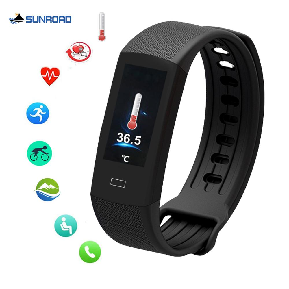 2020 new smart watch bracelet band body temperature heart rate blood pressure fitness run sports tracker waterproof usb charge