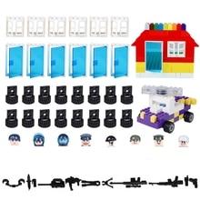 Wheel Axle Door Windows Set MOC Brick Accessories Parts Building Blocks Assemble Bricks Model Kits Toys for Children