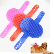 Pet Dog Bath Brush grooming  Rubber Material Massage Adjustable Oval Cleaning Comb cat supplies