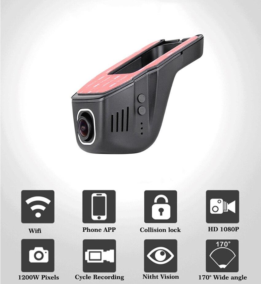 For Volkswagen Passat Car DVR Driving Video Recorder Mini Control APP Wifi Camera FHD 1080P Registrator Dash Cam CCD full hd 5