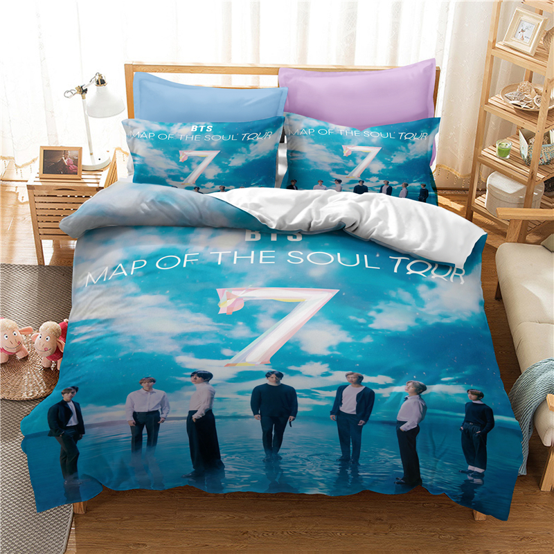 3D Luxury Bedding Set Custom/King/Europe/USA,Duvet Cover Set,Quilt/Blanket Cover Set,Bed Set Bangtan Boys Printed,Drop Shipping