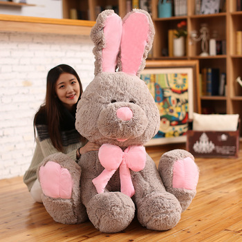 1pc 45/70/80/100cm/120cm Cute American Rabbit Plush Toy Doll Large Bunny Toys Rabbit Quality Peluche Children Kid's Gift