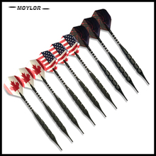 Moylor 6Color 9Pcs Darts National Flag Pattern 18g Safty Soft Electronic Tip Dartboard Game E