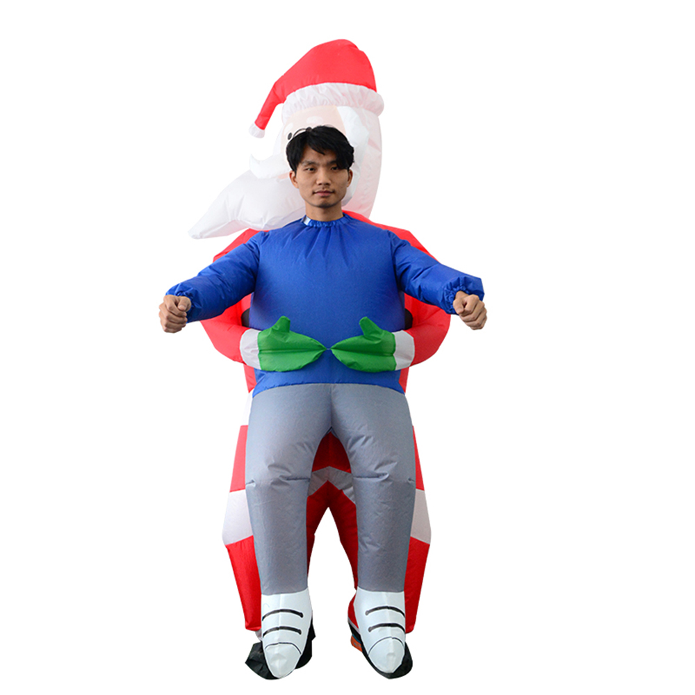Santa Claus Inflatable Costume Snowman Cosplay Costume Halloween Party Festival Stage Pick Me Up For Chidlren Adults New