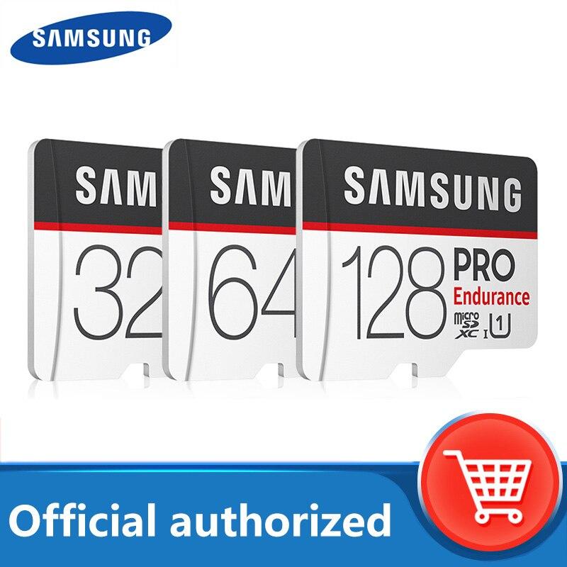 100% carte dorigine SAMSUNG TF MicroSD PRO Endurance 256G 100 mo/s 128 go SDXC SDHC 32 go C10 TF carte UHS-I 64 go carte mémoire Flash