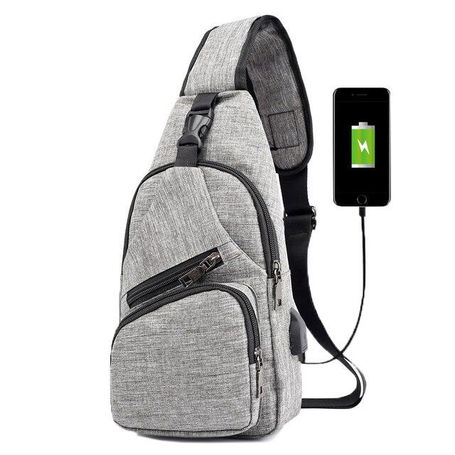 KUBUG Anti-Theft Chest Pack Men Fashion Shoulder Bag USB Charging Travel Crossbody Bag Ourdoor Running Hiking Lady Waist Bag