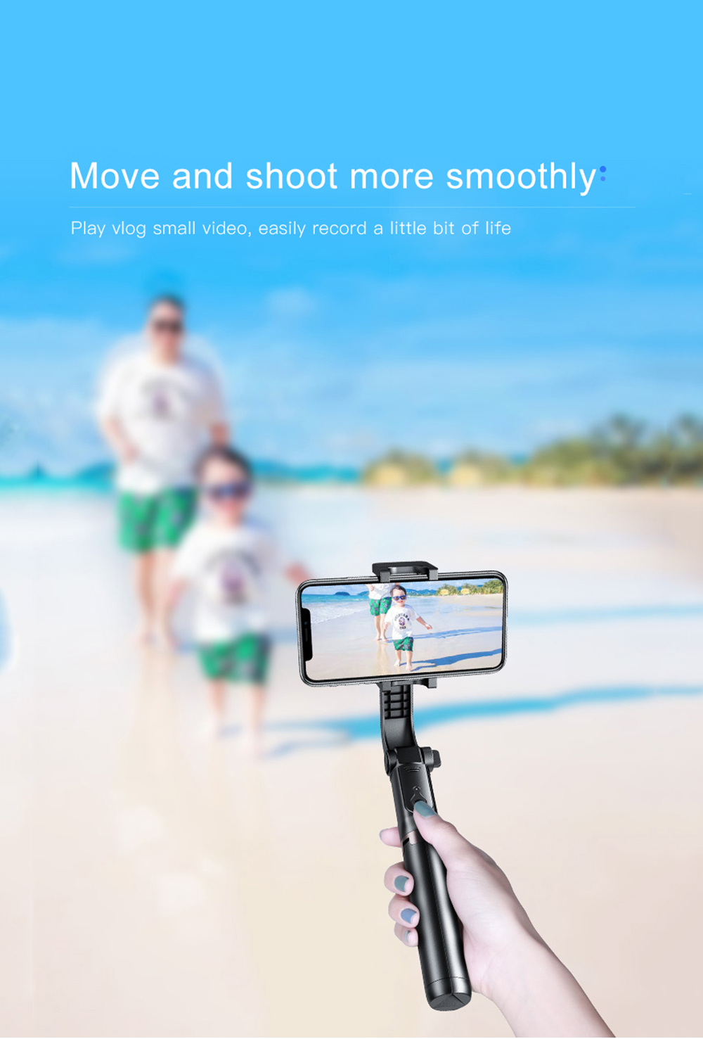 Bonola 3 in1 Handheld Gimbal Stabilizer Smartphone Selfie Stick Tripod For iOSAndroid Video Stabilizer For iPhone11ProSamsung (5)