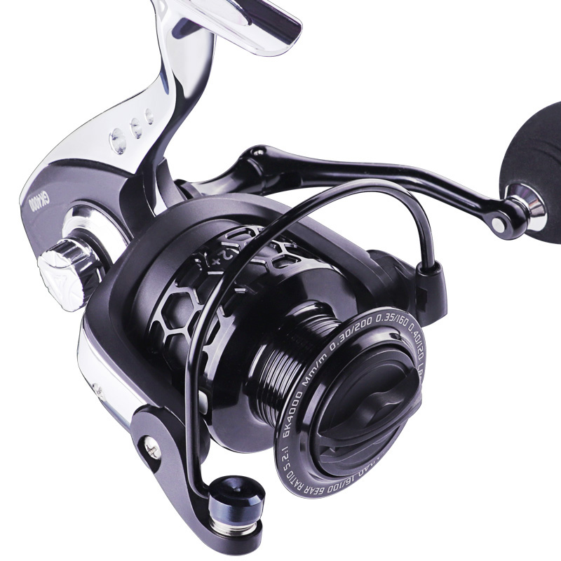 LINNHUE New Fishing Reel 1000-7000 Metal Spool Body Rocker 8KG Max Drag Spinning Reel Saltwater Fishing Accessories High Quality