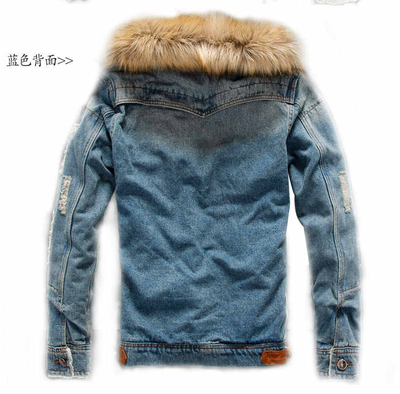 Marstaci 2019 Neue Dropshipping Herbst Winter herren Jacke Warme Dicke Jeans Jacken Männer Denim Mantel Oberbekleidung Herren Marke Kleidung