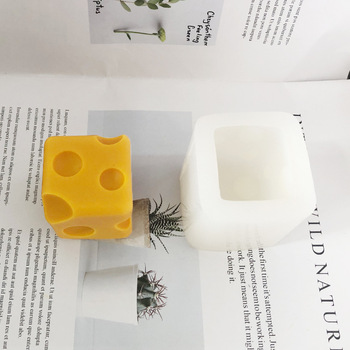 Nowy 3D kwadratowy ser spożywczy mus ciasto foremki do pieczenia DIY ręcznie robiona świeca mydło silikonowe formy rzemiosła tanie i dobre opinie CN (pochodzenie) Square Cheese Silicone Mold Ekologiczne 5 8x5 8cm