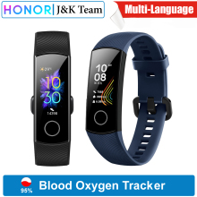 Honor Sleep-Tracker Smartwatch Blood-Oxygen Heart-Rage AMOLED Ftness Global-Version Band-5
