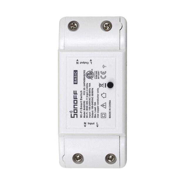 10 قطعة SONOFF الأساسية اللاسلكية واي فاي التبديل وحدة التحكم عن بعد أتمتة لتقوم بها بنفسك الموقت العالمي المنزل الذكي 10A 220 فولت التيار المتناوب 90 250 فولت