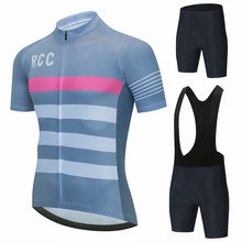 2021 RCC PRO TEAM Cycling Clothes Set Short sleeve Jersey and bib shorts Kit Summer Men bike clothing MTB Ropa Ciclismo clothing