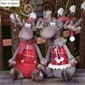 Санта Клаус Снеговик Elk Кукла рождественские украшения с утолщённой меховой опушкой, фигурка Regalos De Navidad для дома Рождественский подарок орн...