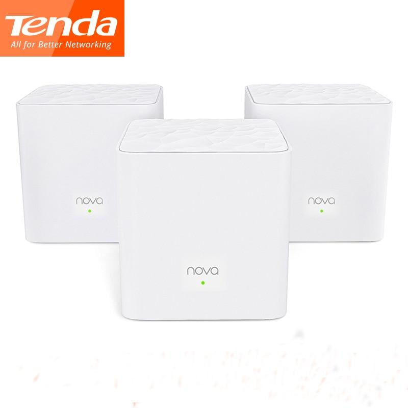 Tenda Nova MW3 Wireless Wifi Router AC1200 Dual-Band 2.4G/5G Whole Home Coverage Mesh WiFi System Wifi Bridge APP Remote Manage