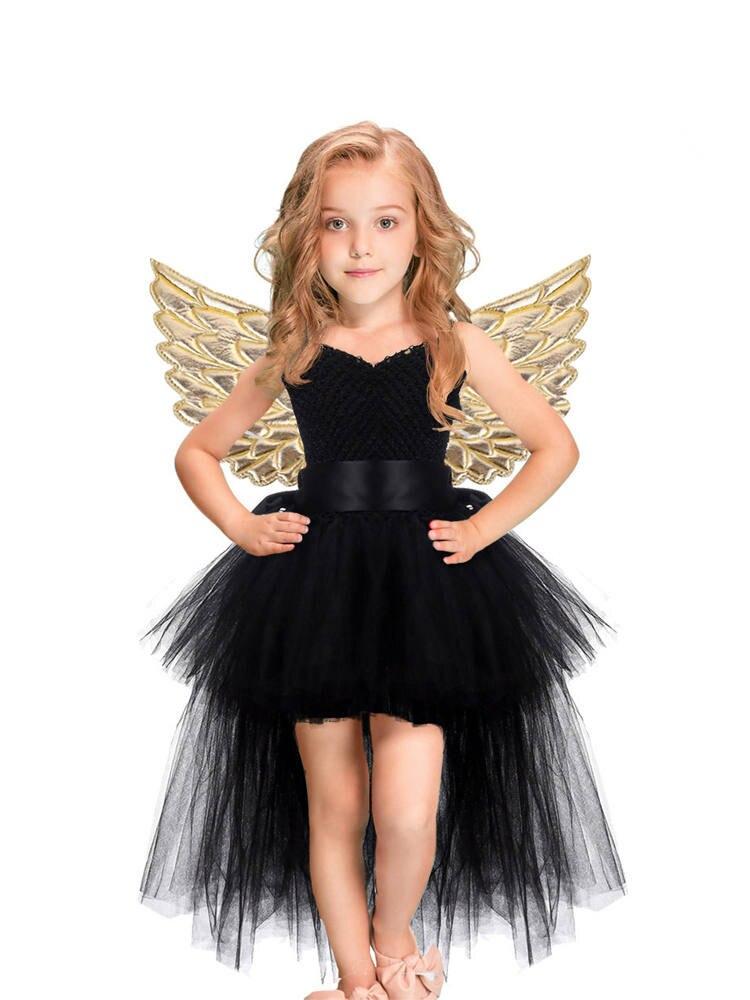 Halloween Unicorn Princess Dress Birthday Party Cosplay Angel Dresses Children Mesh Tutu