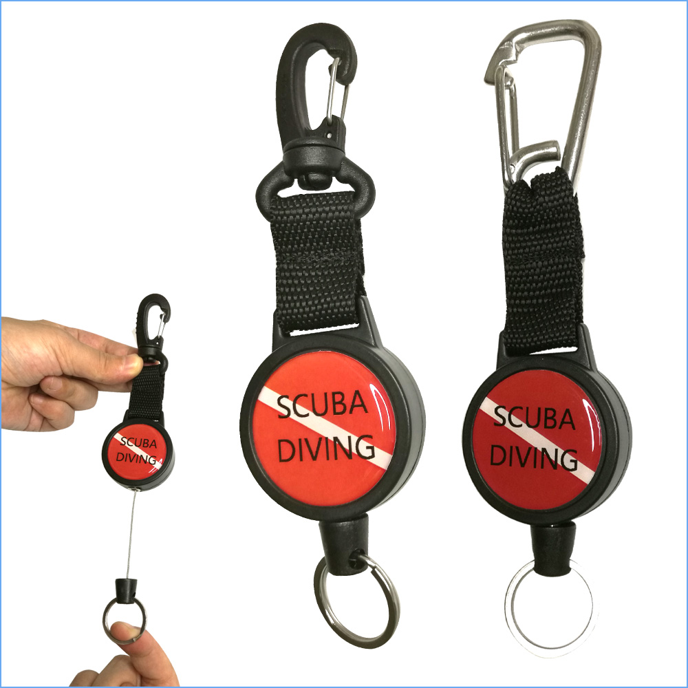 Quick Release Flexible Scuba Diving Gear Keeper Net Retractors Heavy Duty Flashlight Retractor Kayak Locking Console Retractor