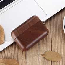 2019 Luxury Handmade Wooden Case for For AirPods Pro Solid wood Protective Cover Case with Anti lost Buckle for Airpods 3