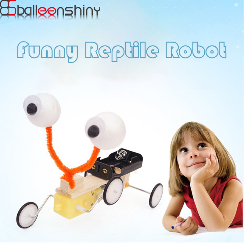 BalleenShiny DIY Kids Toys 3D Assembled Building Puzzle Game Robot Baby Development Learning Toy Child Christams Gift For Boys