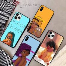 Black Girl Phone Case for iPhone 11 12 p