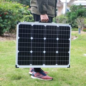 Image 3 - Dokio 100W 접이식 태양 전지 패널 12V 18V 태양 전지 셀/모듈/시스템 충전기 컨트롤러 태양 전지 패널 키트 ru에서 우주선