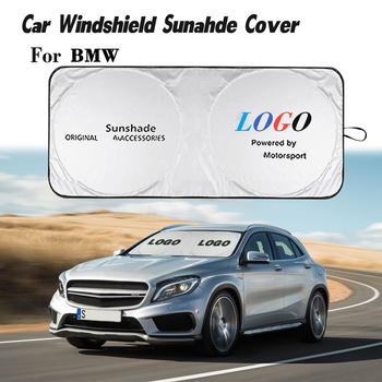 Car Windshield Sun Shade Cover for M Sports Logo Auto Parasol Coche Sun Visor Protector Emblem for BMW Z3 Z4 X2 1 2 3 4 Series image