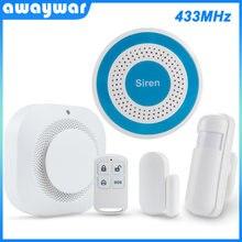 Система охранной сигнализации awaywar 433 МГц с датчиком движения/двери
