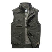 Outdoor Waistcoat Men Multi-pocket Sleeveless Jacket Men Military Photographer Vest Male Double-sided Vest Homme Plus Size M-8XL