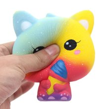 Hot Jumbo Ice Cream Cat Slow Rising Stress Relief Galaxy Toys Squishy Collections Diy Products Slow Rebound Ice Cream Cats