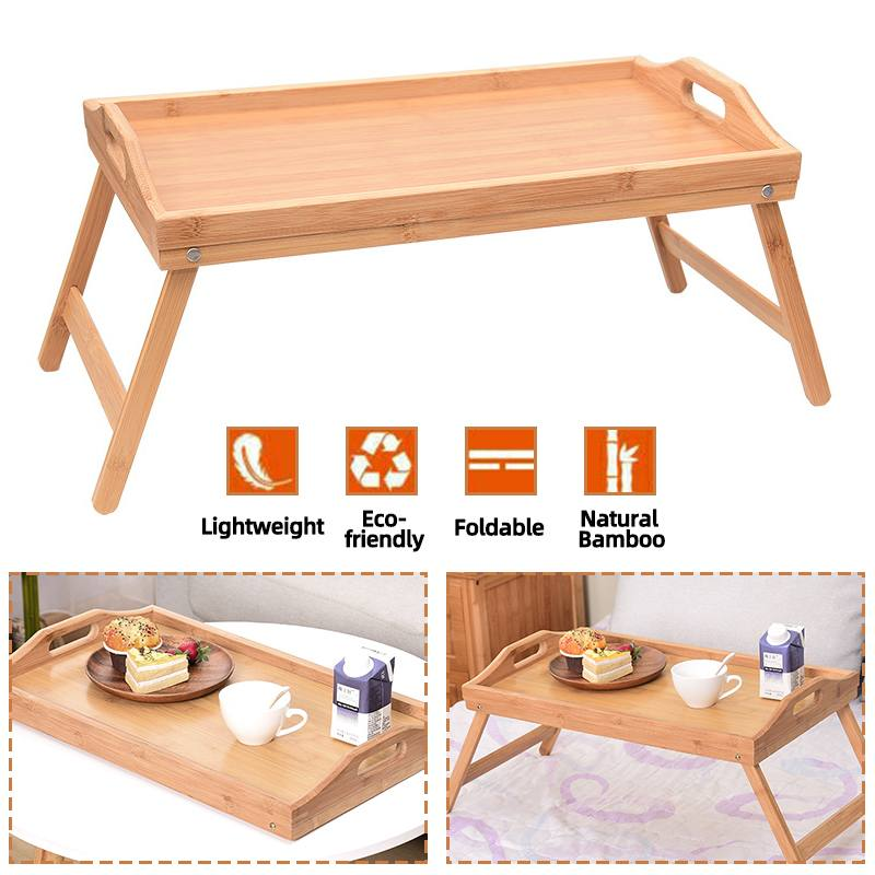 Lap Desk Bed Tray Table Bamboo Folding Lap Desks for Adults and Kids as Dinner