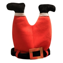 Симпатичная Рождественская шляпа, плюшевая шляпа эльфа Санты, украшение, Рождественская шапка, новогодние, рождественские, вечерние, реквизиты, украшение, забавная игрушка, подарок