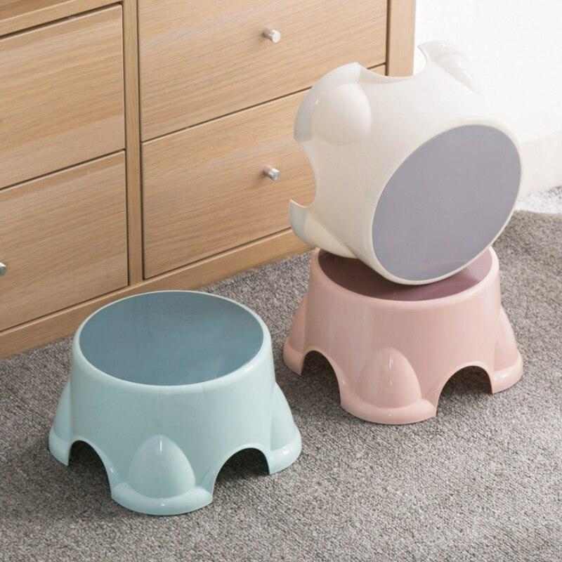Пластиковый табурет маленькая гостиная простая скамейка для обуви домашняя детская креативная многофункциональная Нескользящая YHJ110706