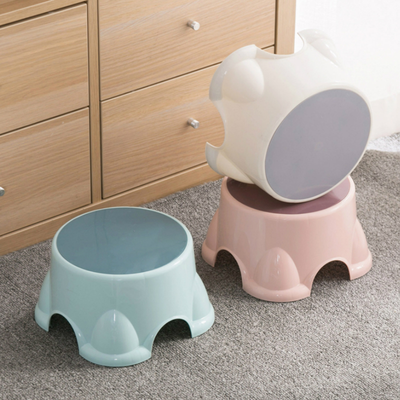 Plastic Stool Small Living Room Simple Shoe Bench Home Children's  Creative Multi-function Non-slip  YHJ110706