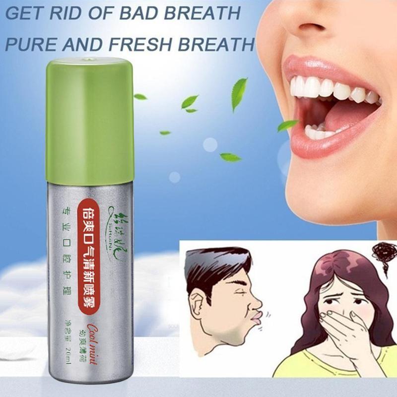 20ml Peppermint Breath Freshener Oral Spray Deodorizing Care Spray Mint Bad Odor Halitosis Treatment Clean Mouth Drop Shipping 4