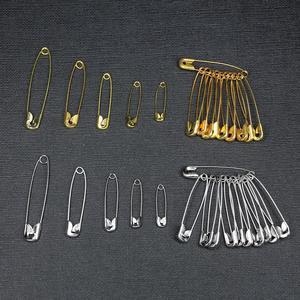 50 Uds. De pasadores de seguridad dorados y plateados de 6-12mm, hebilla artesanal, accesorio de herramientas de costura, agujas, Pin de seguridad grande, broche pequeño, accesorios de ropa