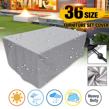 Oxford Cloth Furniture Dustproof Cover For Rattan Table Chair Sofa Waterproof Rain Garden Outdoor Patio Protective Case(China)