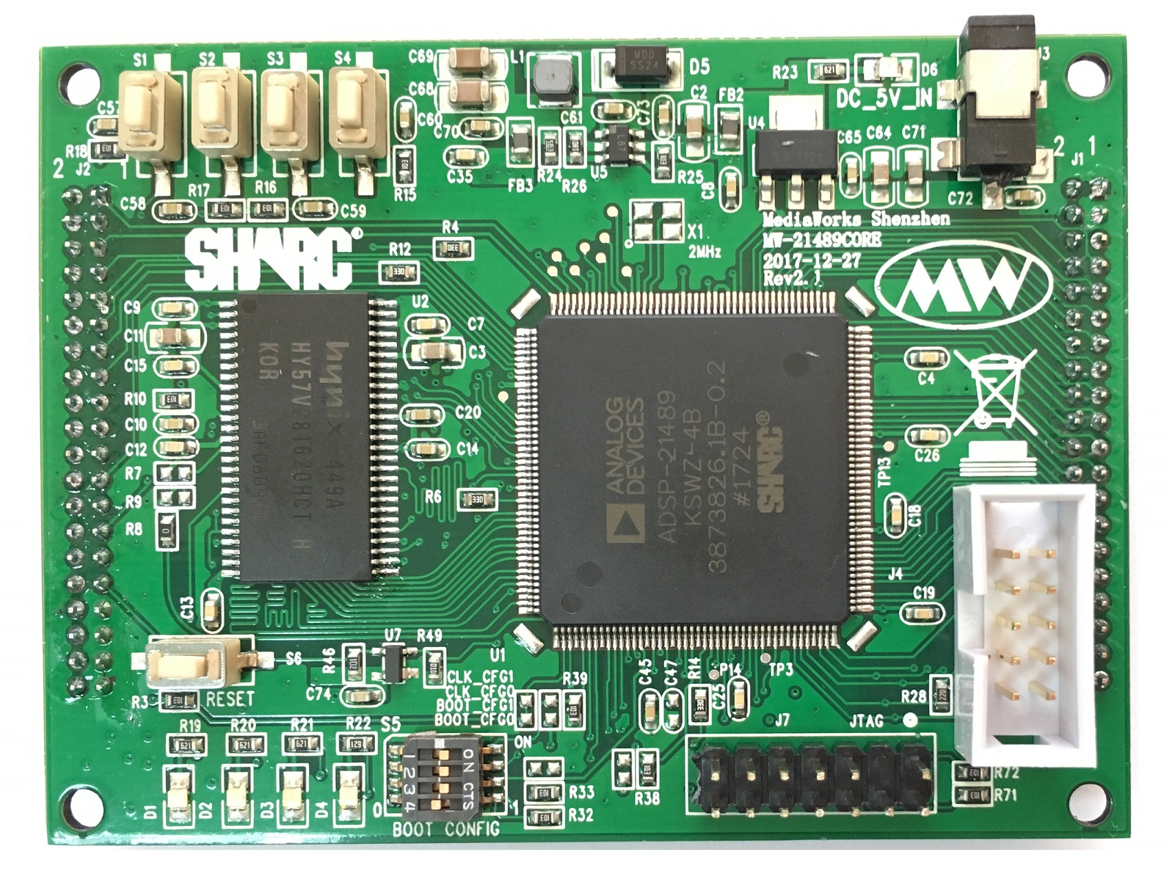 SHARC DSP ADSP-21489 Core Board