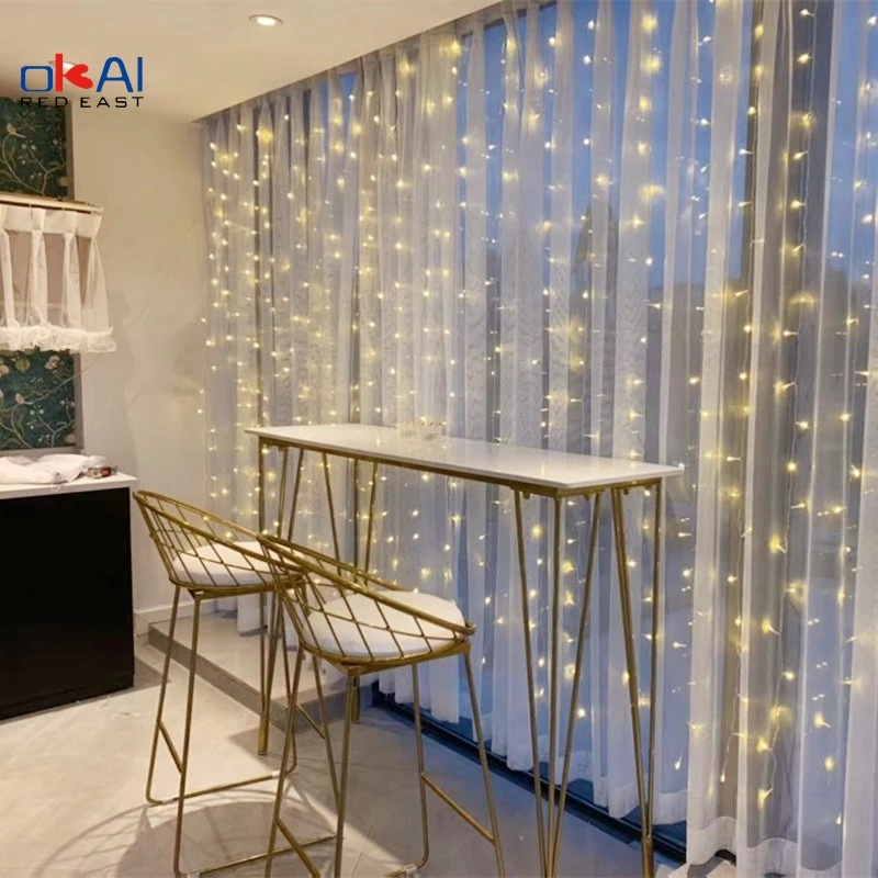 3m 100/200/300 LED Curtain String Light Flash Garland Rustic Wedding Party Decoration Table Bridal Shower Bachelorette Home Gift