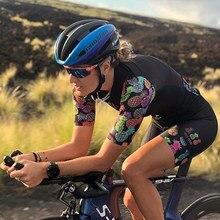 TRES PINAS-Conjuntos de jersey de manga corta para mujer, pantalones cortos con almohadilla de gel, trajes de ciclismo, ropa de ciclismo para mujer, 2020