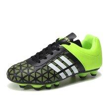 Размер 32-43, футбольные бутсы для мальчиков, мужские футбольные бутсы до лодыжки, длинный шип тренировочные футбольные бутсы, Zapatos De Futbol, износостойкие 9