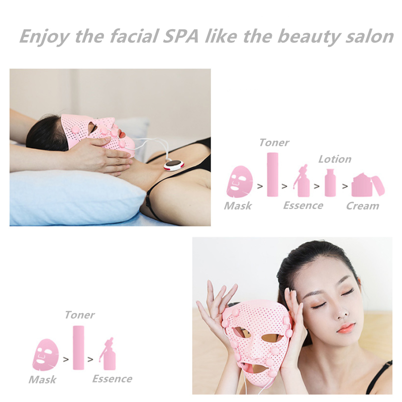 Image 4 - 3D Silicone Facial Mask Electric EMS Vibration Face Massager Skin Rejuvenation Face Care Treatment Beauty Anti age Beauty Spa-in Face Skin Care Tools from Beauty & Health